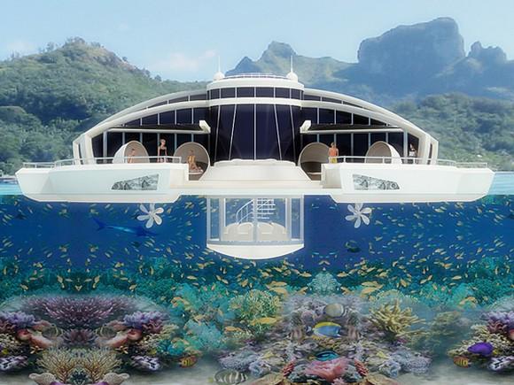 自己自足的太陽能海上別墅