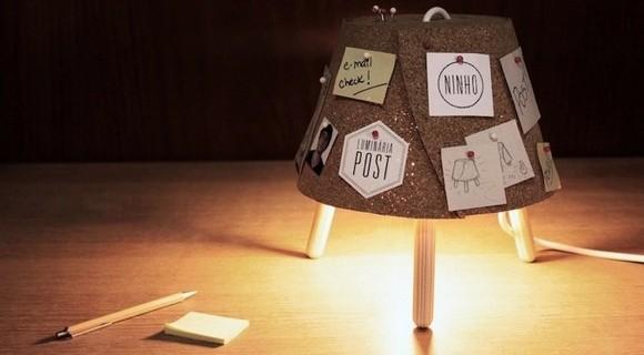 軟木材質留言小桌燈