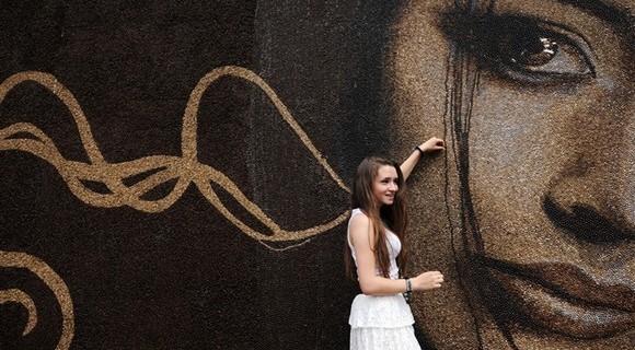 世界最大幅的咖啡豆肖像