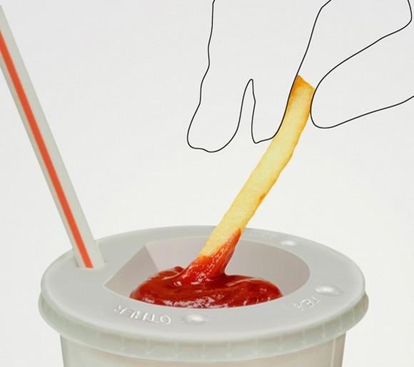 吃薯條這樣沾番茄醬最方便