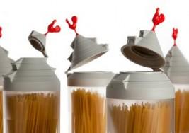 創意廚具,附量孔的義大利麵罐
