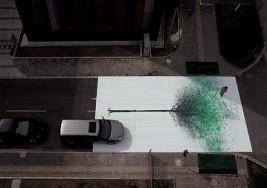 綠色步行-行動藝術海報
