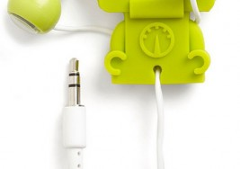 機器人耳機+收納捲線器