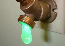 綠光LED水龍頭小夜燈