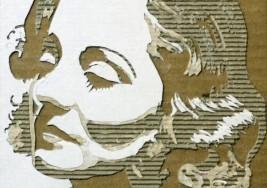 瓦楞紙肖像作品
